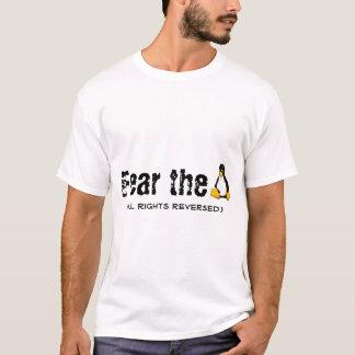 Camiseta Linux/miedo de Tux 'el Penguin