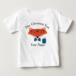 Camiseta lista del jersey del bebé del Fox