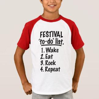 Camiseta Lista del lío del ` del festival' (negro)