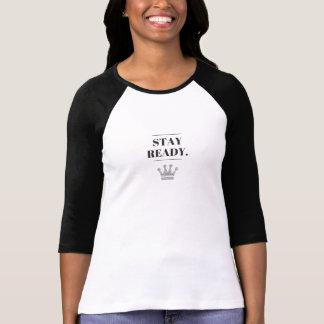 Camiseta lista del raglán de la estancia de