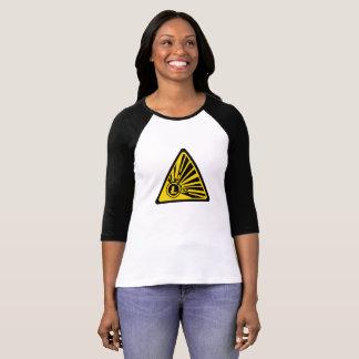 Camiseta Litecoin Bella+Camiseta del raglán de la manga de