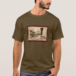 Camiseta Litho locomotor 1854 del motor del tren de Boston