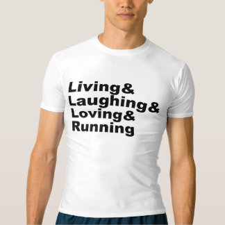 Camiseta Living&Laughing&Loving&RUNNING (negro)
