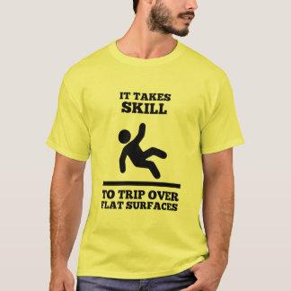 Camiseta Lleva habilidad el viaje sobre las superficies