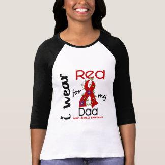 Camiseta Llevo el rojo para mi enfermedad cardíaca del papá