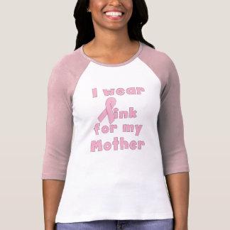 Camiseta Llevo el rosa para mi raglán de la madre