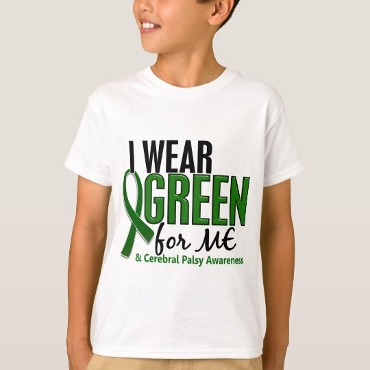 Camiseta Llevo el verde para MÍ la parálisis cerebral 10