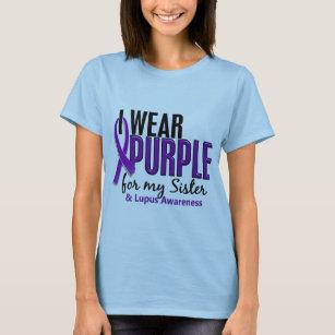 Camiseta Llevo la púrpura para mi lupus de la hermana 10 4cf826f56e2db