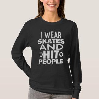 Camiseta Llevo los patines y a la gente del golpe, rodillo