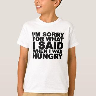 Camiseta Lo siento para lo que dije cuándo era… png