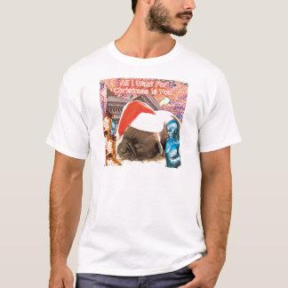 Camiseta Lo único que quiero para el navidad es usted