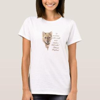 Camiseta Lobo Cub lindo, cita de los lobos, fauna, animal