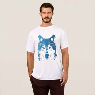 Camiseta Lobo de los azules claros del ilustracion