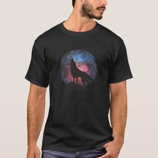 Camiseta Lobo que grita en galaxia