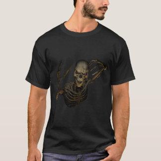 Camiseta loca del esqueleto del demonio