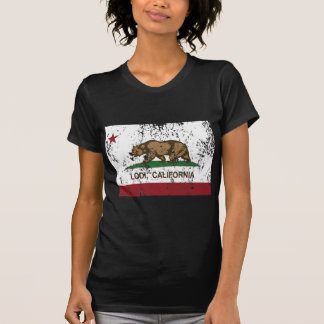 Camiseta lodi de la bandera de California apenado