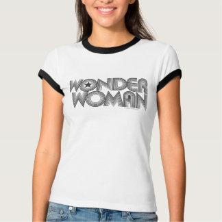 Camiseta Logotipo 3 de la Mujer Maravilla B&W