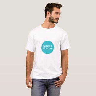 Camiseta Logotipo blanco del círculo del trullo de la