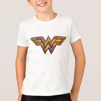 Camiseta Logotipo colorido de la Mujer Maravilla
