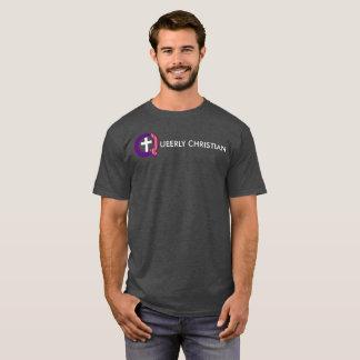 Camiseta Logotipo completo raramente cristiano (oscuro)