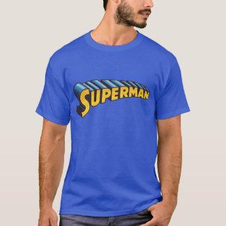 Camiseta Logotipo conocido clásico del superhombre el  