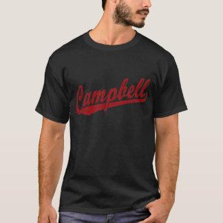 Camiseta Logotipo de la escritura de Campbell en rojo