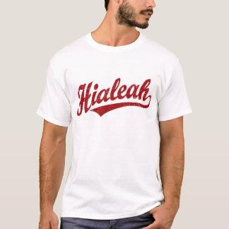 Camiseta Logotipo de la escritura de Hialeah en el rojo