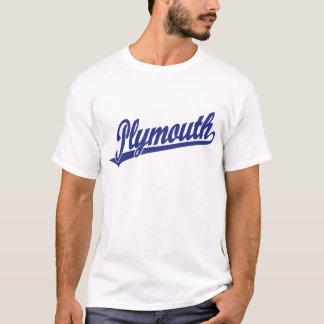 Camiseta Logotipo de la escritura de Plymouth en azul