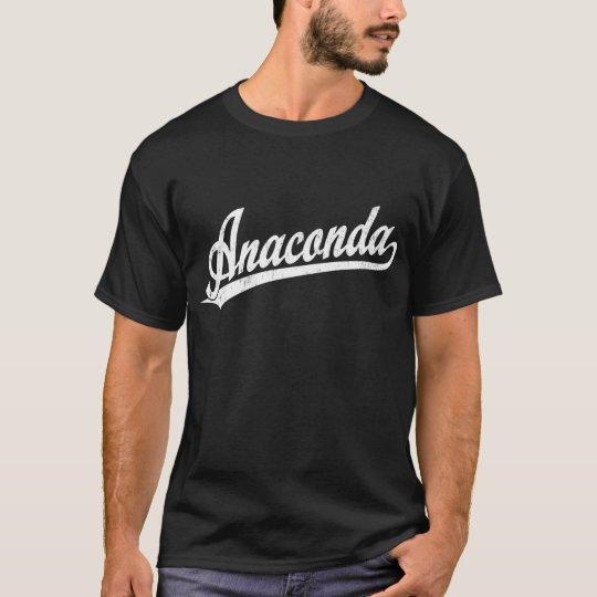 Camiseta Logotipo de la escritura del Anaconda en blanco