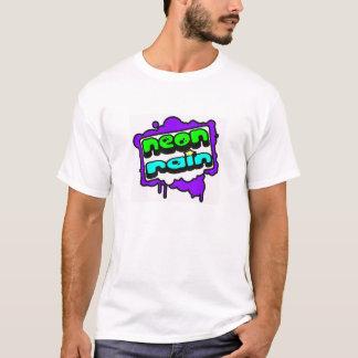 Camiseta Logotipo de neón de la lluvia