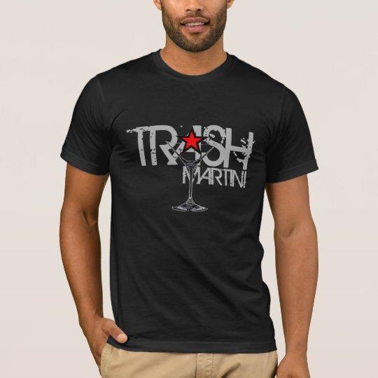 Camiseta Logotipo de plata de Martini de la BASURA