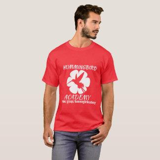 Camiseta Logotipo del blanco de la academia del colibrí