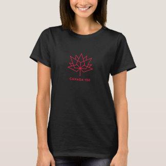 Camiseta Logotipo del funcionario de Canadá 150 - negro y