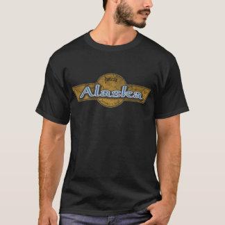 Camiseta Logotipo del Grunge de la bandera de Alaska