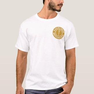 Camiseta Logotipo del oro de los coches de Excalibur