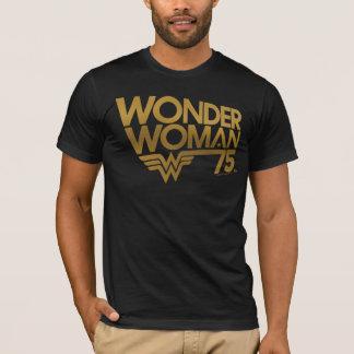 Camiseta Logotipo del oro del aniversario de la Mujer