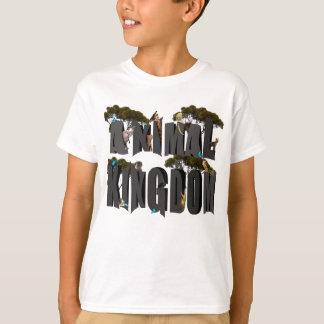 Camiseta Logotipo del reino animal con los animales,
