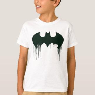 Camiseta Logotipo del símbolo el   Spraypaint de Batman