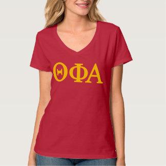 Camiseta Logotipo grande alfa de Lil de la phi de la theta