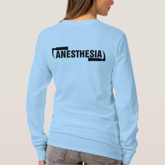 Camiseta Logotipo largo de la anestesia de la manga