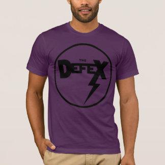 Camiseta Logotipo negro de DefeX en un tambor