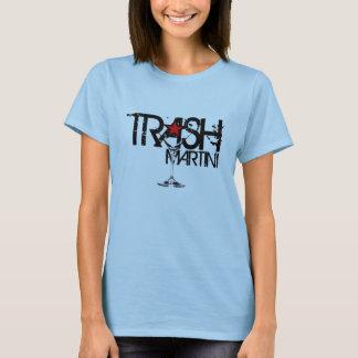 Camiseta Logotipo negro de las señoras de Martini de la