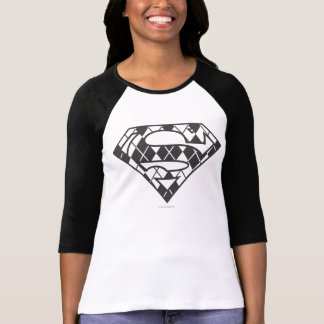 Camiseta Logotipo negro de Supergirl Argyle
