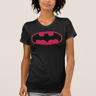 Camiseta Logotipo negro rojo del símbolo el   de Batman