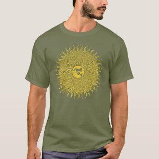Camiseta Logotipo preferido de Sun del mapa de la tierra