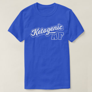 Camiseta Logotipo quetogénico del vintage del Keto AF