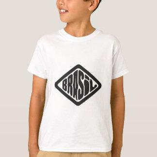 Camiseta logotipo retro del Brasil de la forma del diamante