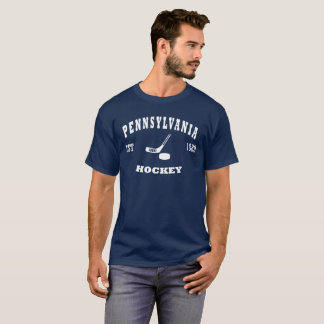 Camiseta Logotipo retro del hockey de Pennsylvania