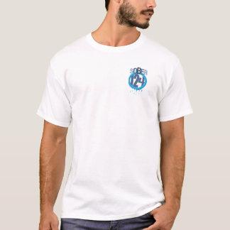 Camiseta Logotipo Sober124 con el pescador peligroso en la