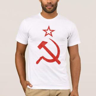 Camiseta Logotipo soviético del martillo, de la hoz y de la